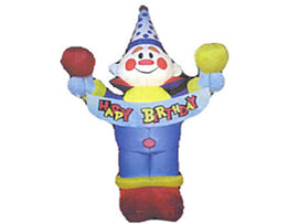 Rental - Airblown Inflatable Clown with Lights, each