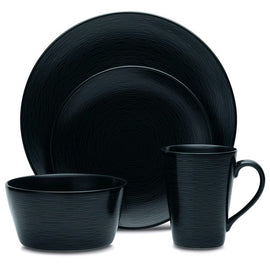"Rental - Black Swirl (BoB) 11"" Dinner Plate, dozen"