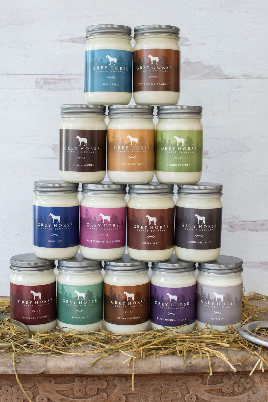 ALL SIXTEEN Grey Horse Candle Company Candles || 12oz.