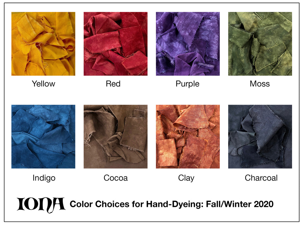IONA Clothing Color Choices Fall/Winter 2020