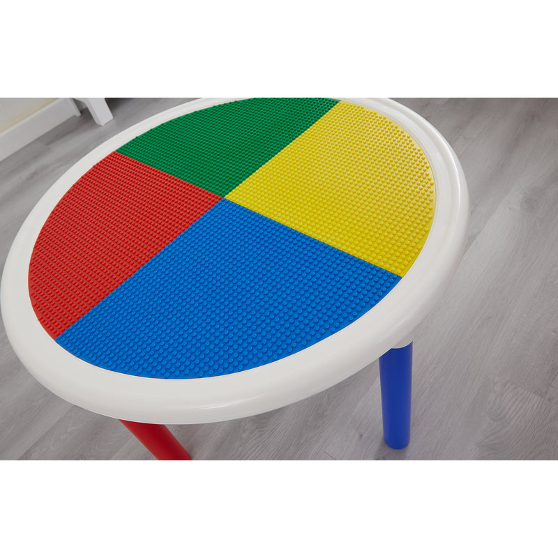 3-in-1-round-activity-table-lifestyle-close-up-lego-top at Child Land