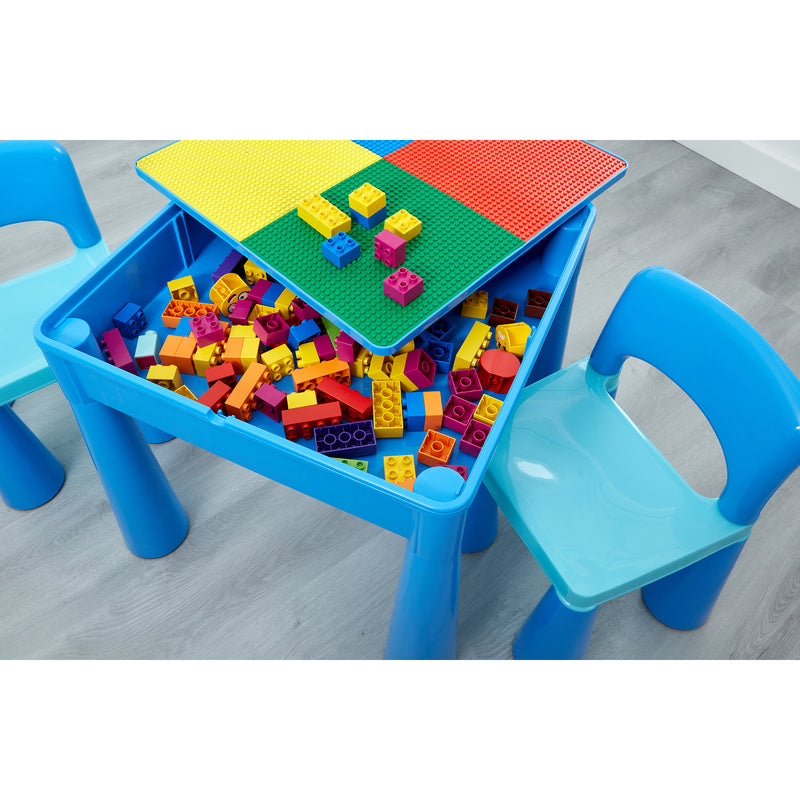899B-blue-table-and-2-chairs-lifestyle-close-up-storage-lego at Child Land