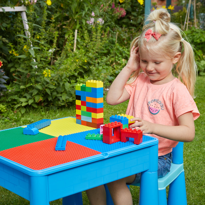 899B-blue-table-and-2-chairs-outdoor-lego-top at Child Land