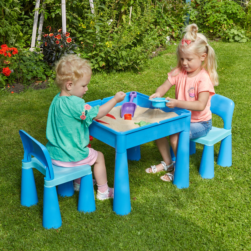 899B-blue-table-and-2-chairs-outdoor-sand-play-children at Child Land