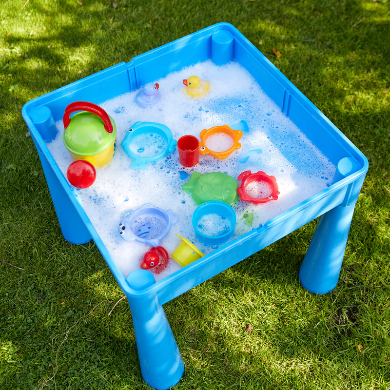 899B-blue-table-and-2-chairs-outdoor-water-play at Child Land