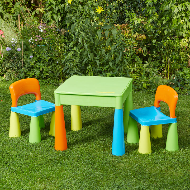5 in 1 Multipurpose Activity Table & 2 Chairs (Multicoloured) at Child Land