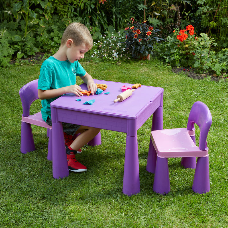 purple-table-and-2-chairs-outdoor-play-doh  at Child Land