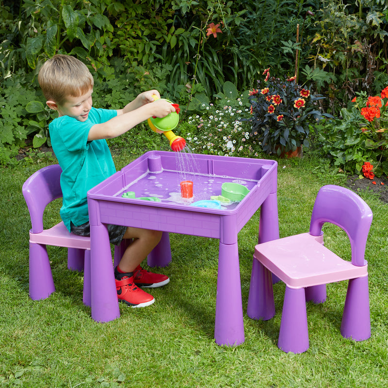 purple-table-and-2-chairs-outdoor-water-play at Child Land