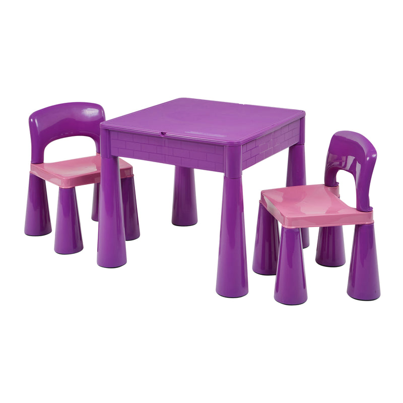 5 in 1 Multipurpose Activity Table & 2 Chairs (Purple) at Child Land