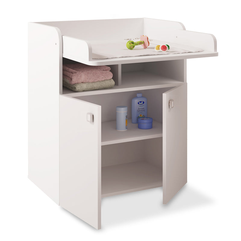 Changing Board Cupboard with Storage 1270 - White at Child Land