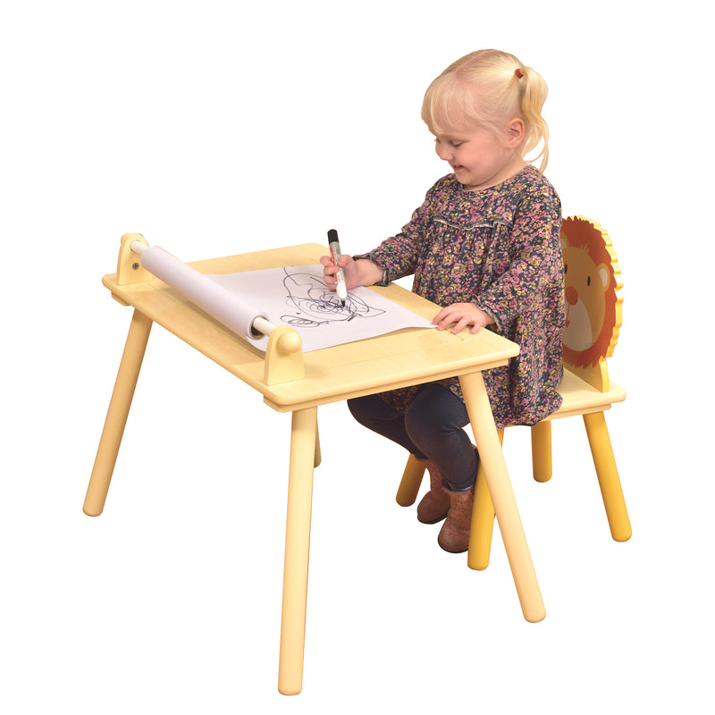 Jungle Writing table & chair with Lego board