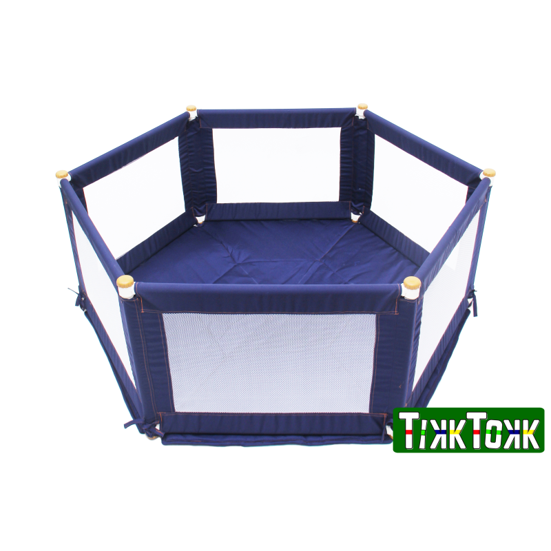 POKANO Fabric Playpen – Hexagonal – BLUE