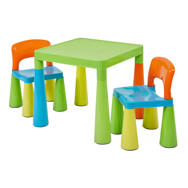 Children's Multi-Coloured Table & 2 Chairs at Child Land