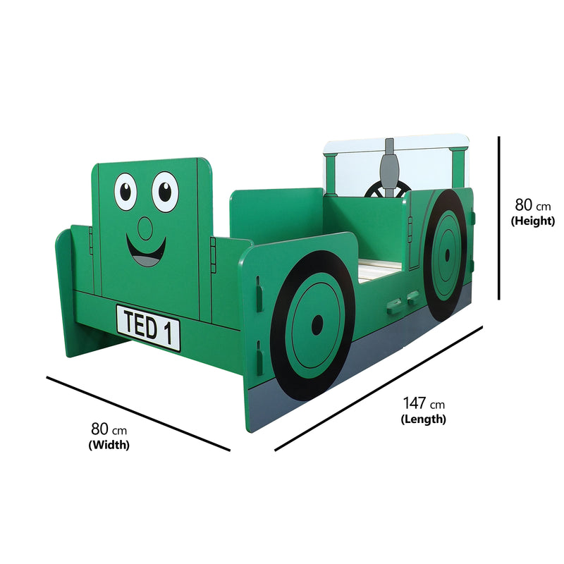 Tractor Ted Junior Toddler Bed at Child Land - Dimensions