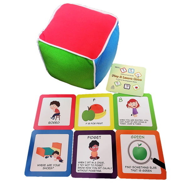 Play & Learn Cube Game for Toddlers - Your Child's First Game! Educational Toddler Toy for Parents and Kids 18 Months and Older