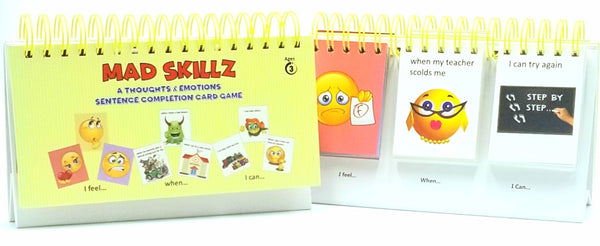 MAD SKILLZ: A Thoughts & Emotions Sentence Completion Card Game for Taking Control of Feelings/Emotions