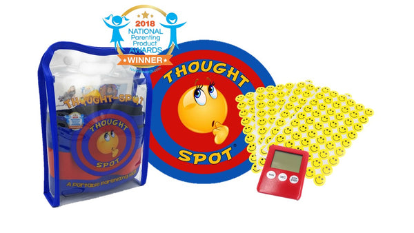 A Portable Parenting Time Out Mat with Digital Timer & 216 Smiley Face Reward Stickers