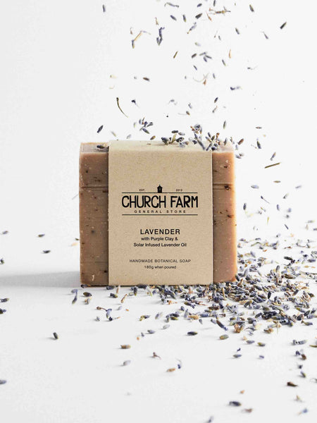 Church_Farm_Natural_Soap_Lavender_with_Purple_Clay_Lavender_Oil