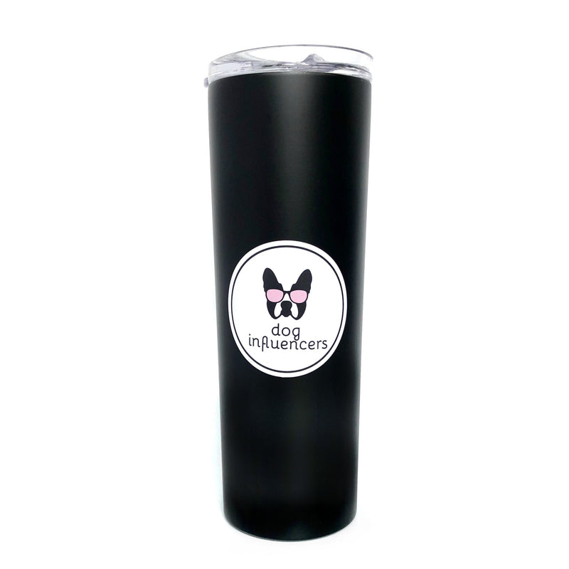 Dog Influencers Black Stainless Steel Skinny Tumbler - Dog Influencers