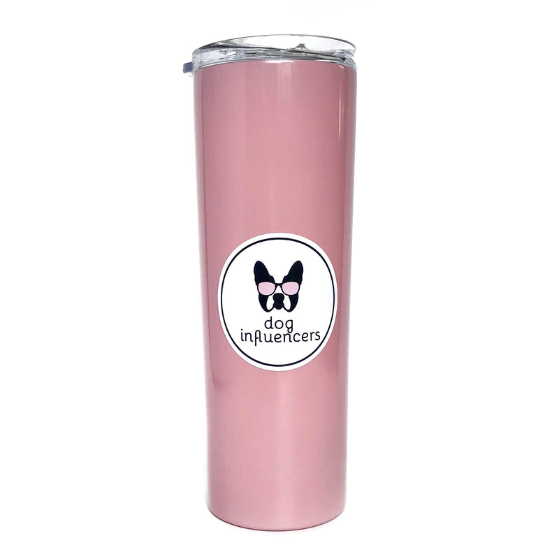 Dog Influencers Pink Stainless Steel Skinny Tumbler - Dog Influencers