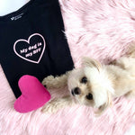 """My dog is my BFF"" Black T-Shirt - Dog Influencers"
