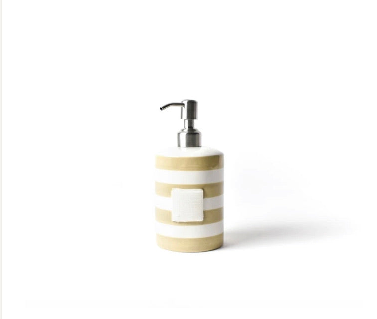Happy Everything Neutral Stripe Mini Cylinder Soap Pump