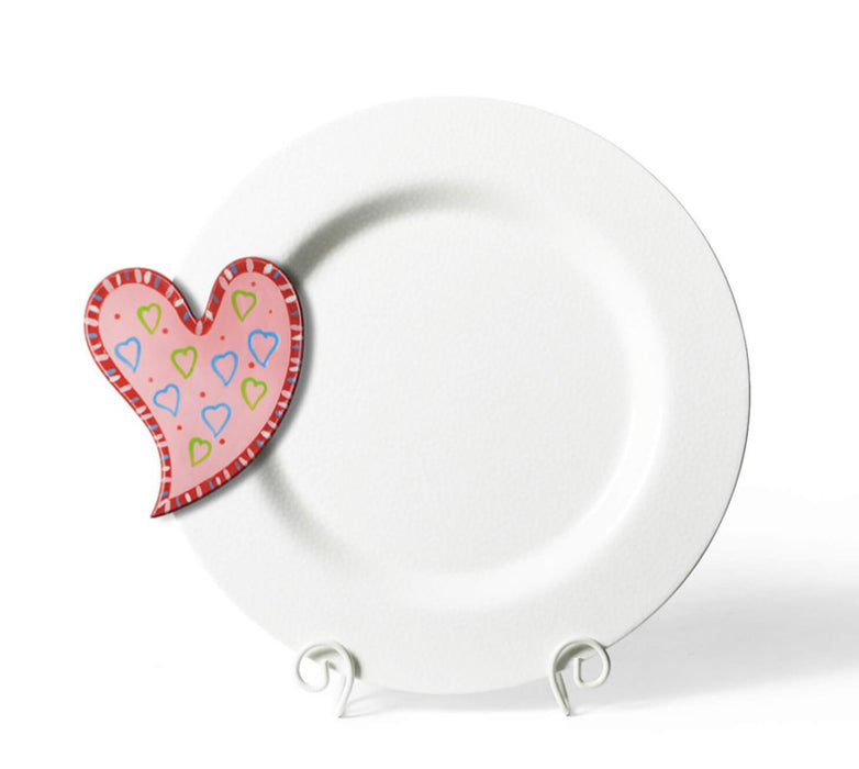 White Small Dot Big Entertaining Round Platter by Happy Everything!