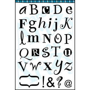 Alphabet Whimzy Stamp Set