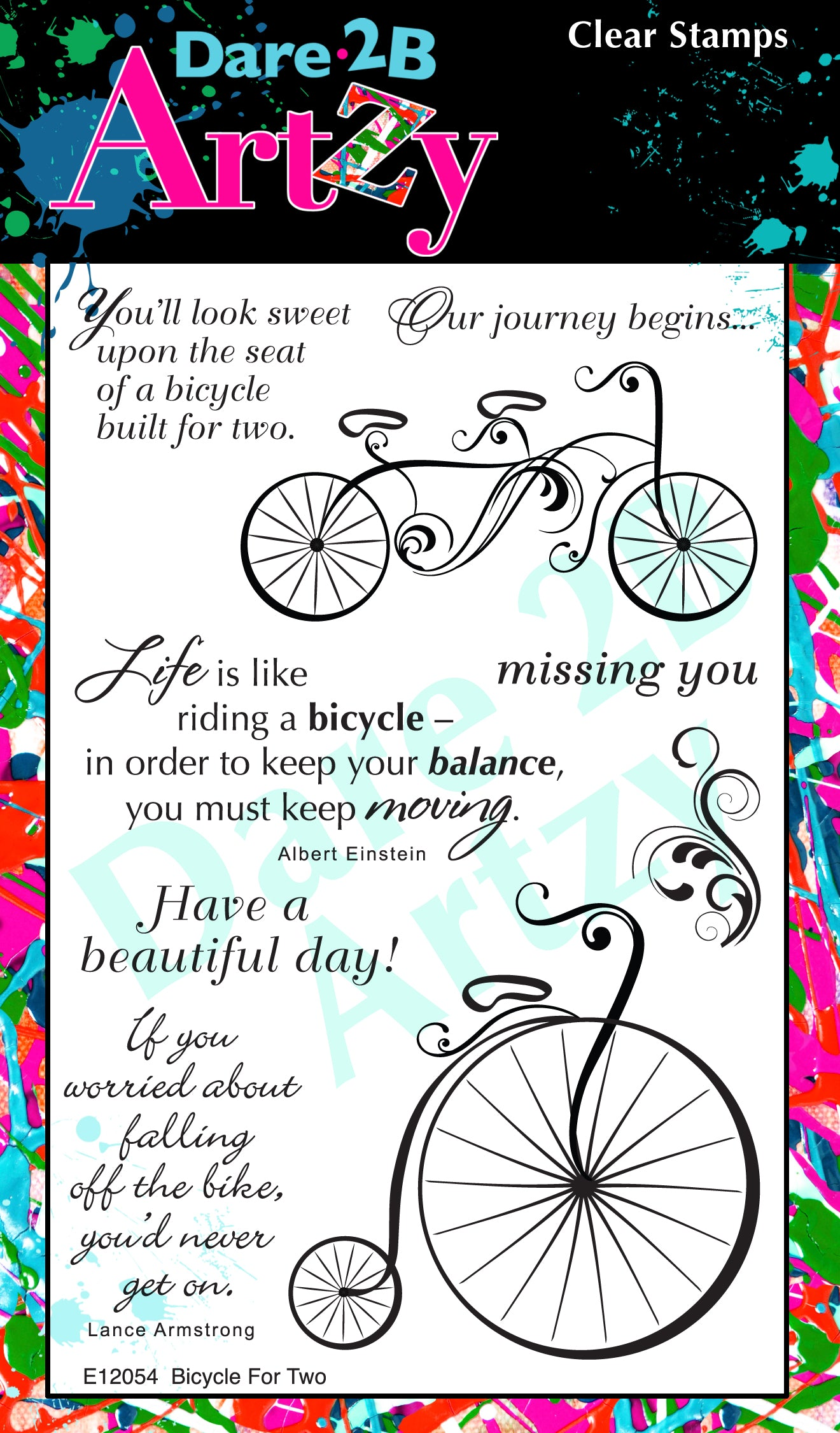 Bicycle for Two Stamp Set