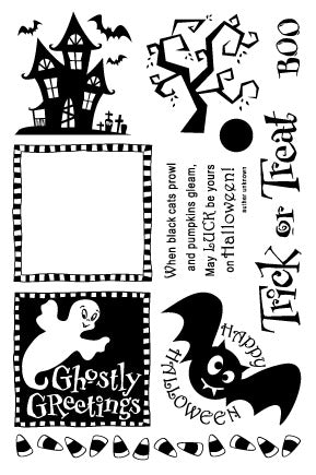 Ghostly Greetings Stamp Set