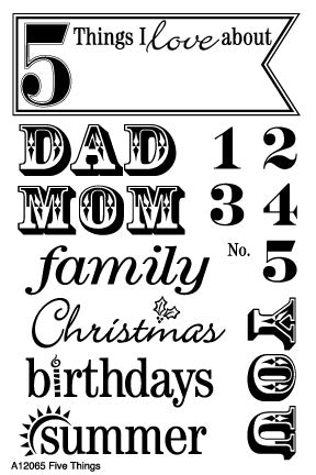 Five Things Stamp Set