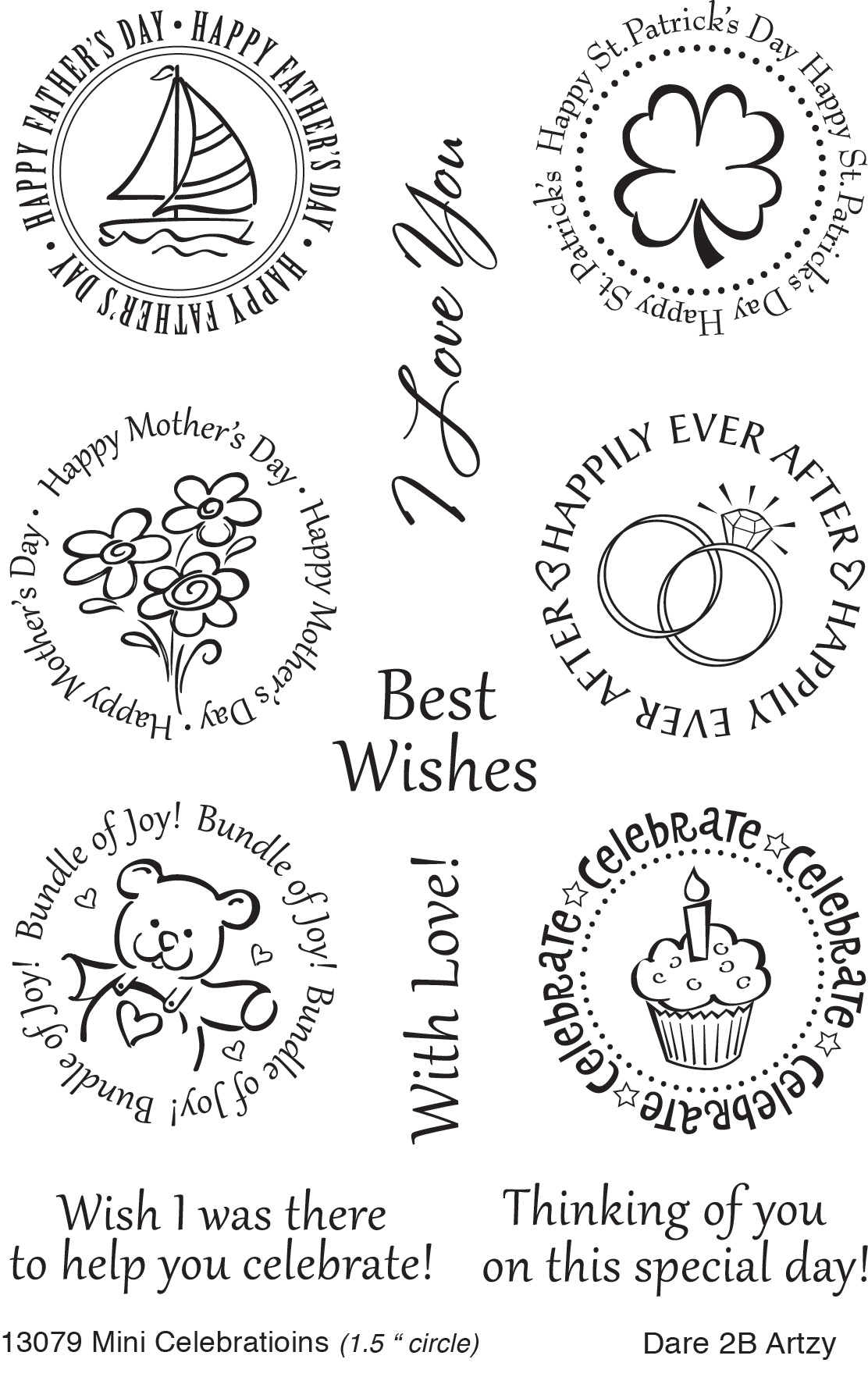 Mini Celebrations Stamp Set