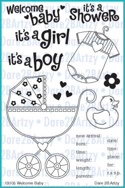 Welcome Baby Stamp Set