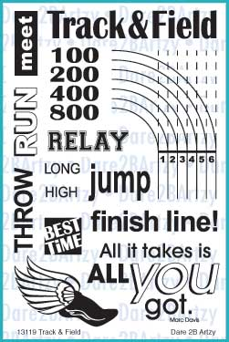Track & Field Stamp Set