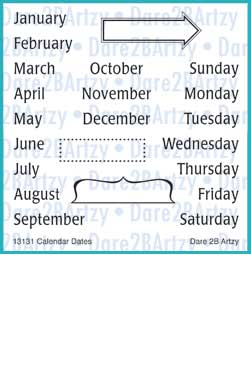 Calendar Dates Stamp Set