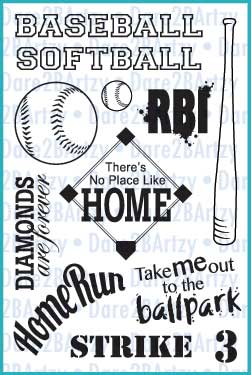 Baseball/Softball Stamp Set