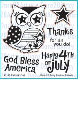Patriotic Owl Stamp Set
