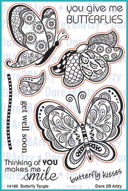 Butterfly Tangle Stamp Set