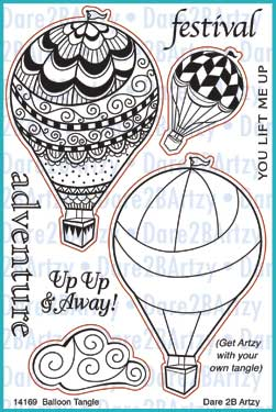 Balloon Tangle Stamp Set