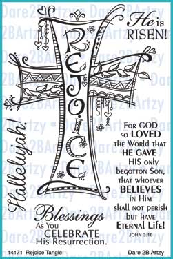 Rejoice Tangle Stamp Set