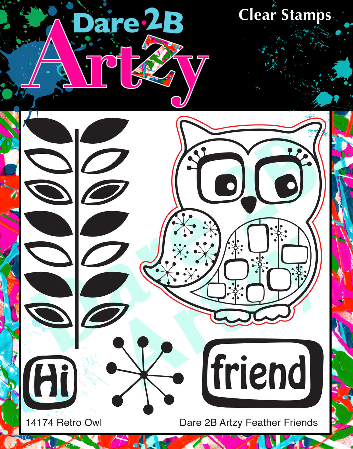 Retro Owl Stamp Set
