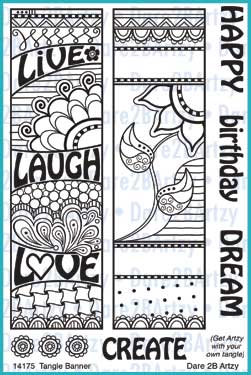 Tangle Banner Stamp Set