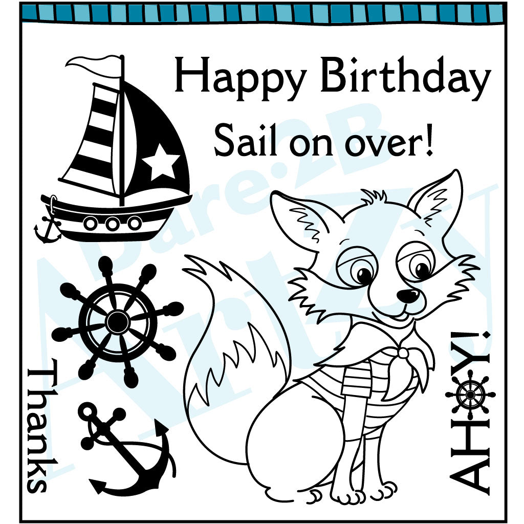Ahoy Mate Fox Clear Stamp Set