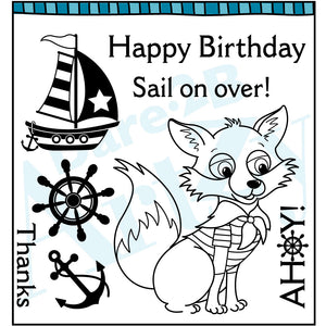 Ahoy Mate Fox Stamp Set