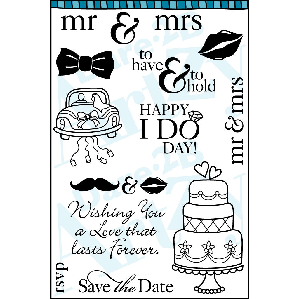 Mr. & Mrs. Stamp Set