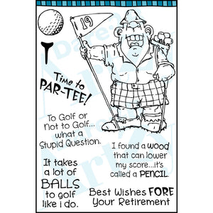 A 19th Hole Stamp Set