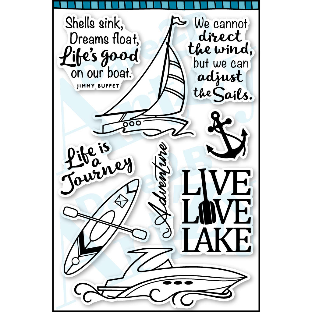 Live Love Lake Stamp Set