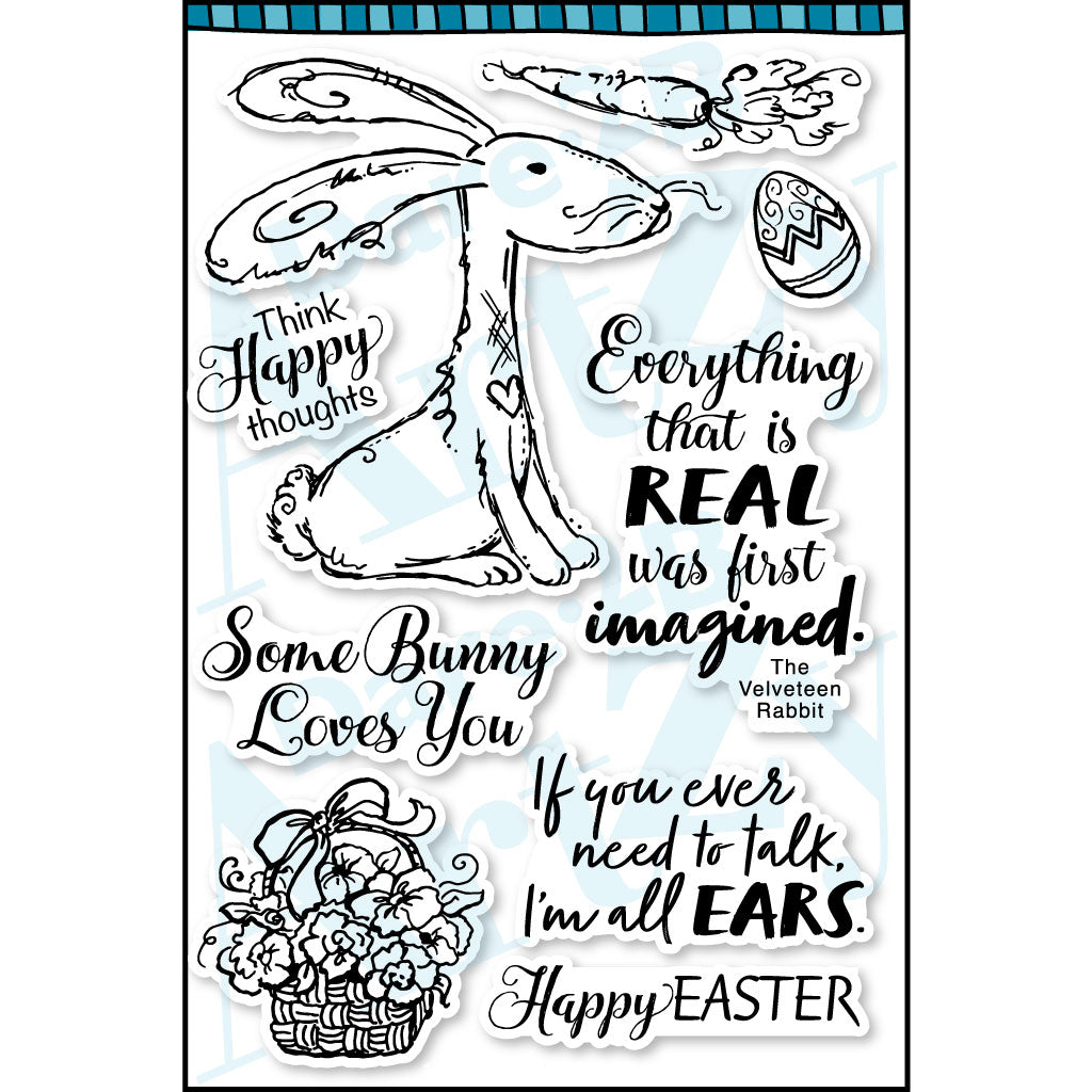 Raggity Rabbit Stamp Set