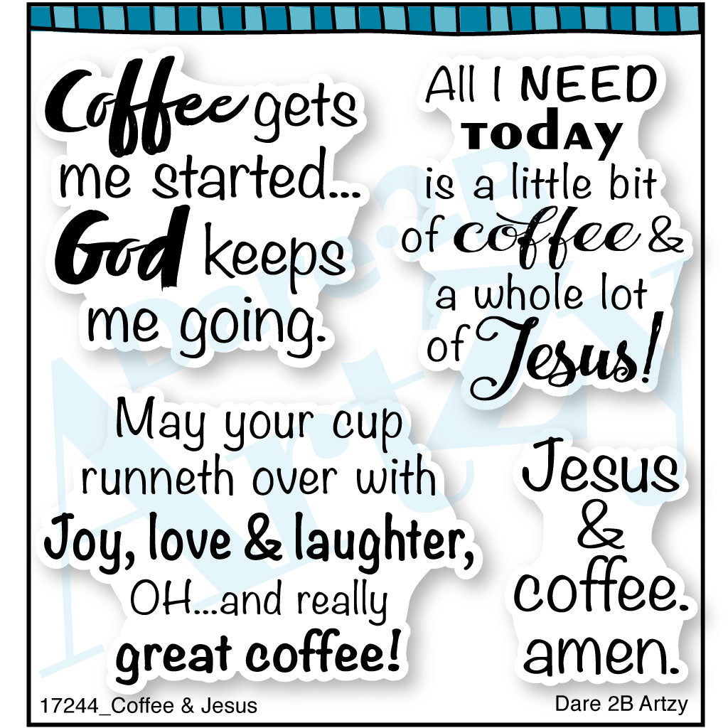 Coffee & Jesus Stamp Set