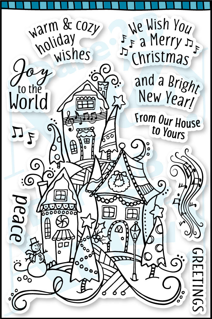 Holiday Village Stamp Set